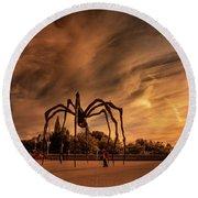 Spider Maman - Ottawa Round Beach Towel