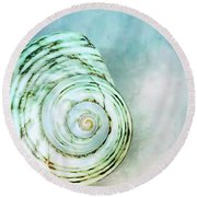 Spinning In The Clouds  Round Beach Towel