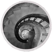 Spiral Staircase, Lakewood  Cemetary Chapel Round Beach Towel