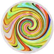 Spiraling Glass Art Round Beach Towel