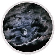 Spirits Of The Night Round Beach Towel