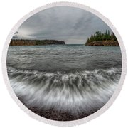 Split Rock Lighthouse State Park Round Beach Towel