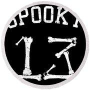 Spooky 13 Halloween Jersey Round Beach Towel