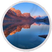 Spring 2019 St Mary Sunrise Reflections Round Beach Towel