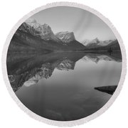 Spring 2019 St Mary Sunrise Reflections Black And White Round Beach Towel