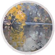 Spring At Hyde Park Round Beach Towel