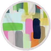 Spring Breeze- Art By Linda Woods Round Beach Towel