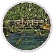 Spring In The North Carolina Mountains Round Beach Towel
