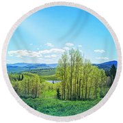 Round Beach Towel featuring the photograph Spring On The Western Slope Colorado by Mike Braun