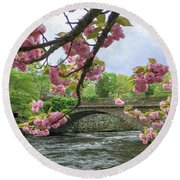 Spring Time In Windham  Round Beach Towel