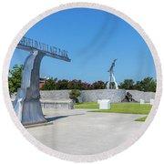 Springfield Village Park - Augusta Ga Round Beach Towel