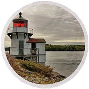 Squirrel Point Light Round Beach Towel