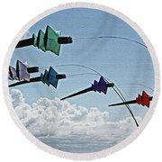 St. Annes. Pagoda Kites. Round Beach Towel