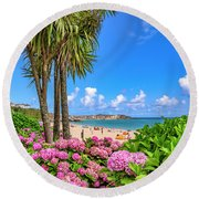 St Ives Cornwall - Summer Time Round Beach Towel
