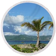 St. John View Round Beach Towel