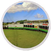 Round Beach Towel featuring the photograph St Kitts Railway by Tony Murtagh
