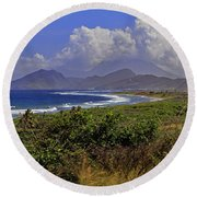 Round Beach Towel featuring the photograph St Kitts  by Tony Murtagh