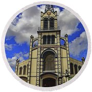 Round Beach Towel featuring the photograph St. Louis Cathedral by Tony Murtagh