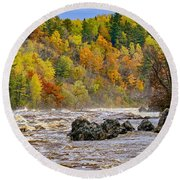 St. Louis River At Jay Cooke Round Beach Towel