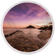 St Michael's Mount - January Round Beach Towel