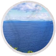 St. Thomas Northside Ocean View Round Beach Towel