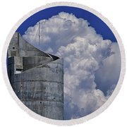 Round Beach Towel featuring the photograph Stacked by Skip Hunt