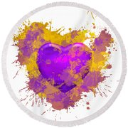 Stain Lakers Round Beach Towel