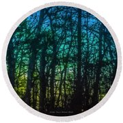 Stained Glass Dawn Round Beach Towel