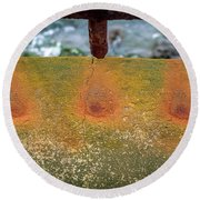 Round Beach Towel featuring the photograph Stains by Steve Stanger