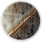 Staircase 2017 Round Beach Towel