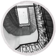 Staircase In Budapest Round Beach Towel