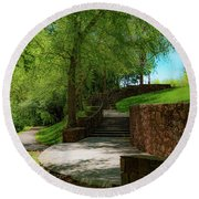 Stairway To Carlyle Round Beach Towel