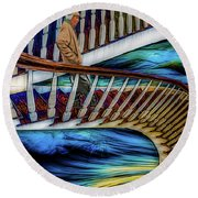 Stairway To Perdition Round Beach Towel
