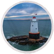 Round Beach Towel featuring the photograph Standing Watch by Michael Hughes