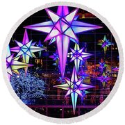 Holiday Under The Stars Round Beach Towel