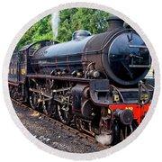 Steam Locomotive 1264 Nymr Round Beach Towel