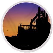 Steel City Sunrise Round Beach Towel
