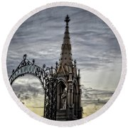 Steeple And Steel Round Beach Towel