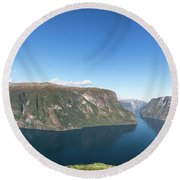 Stegastein, Norway Round Beach Towel