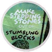 Stepping Stones Round Beach Towel