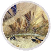 Round Beach Towel featuring the photograph Steps Of Fertility by SR Green