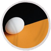 Still Life With Egg Round Beach Towel