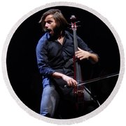 Round Beach Towel featuring the photograph Stjepan Hauser by James Peterson
