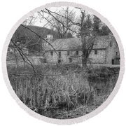Stone And Reeds - Waterloo Village Round Beach Towel