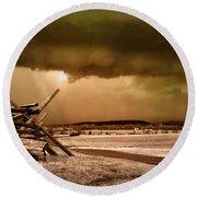 Storm Brewing Round Beach Towel