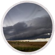 Storm Chasin In Nader Alley 004 Round Beach Towel