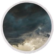 Storm Chasin In Nader Alley 012 Round Beach Towel