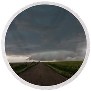 Storm Chasin In Nader Alley 025 Round Beach Towel
