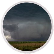 Storm Chasin In Nader Alley 030 Round Beach Towel