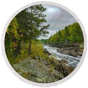 Storm Clouds At Jay Cooke Round Beach Towel